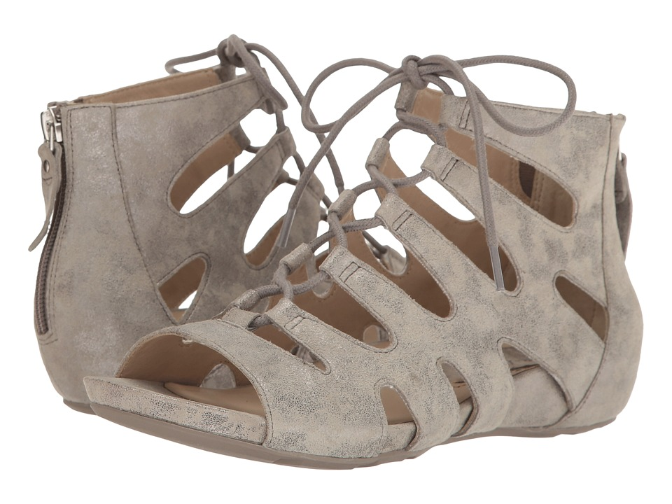 Earth - Roma Earthies (Light Grey Metallic Suede) Women's Shoes