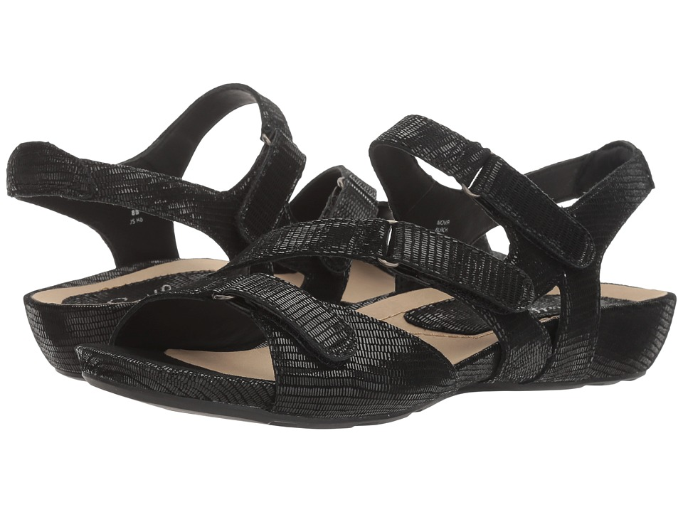 Earth - Nova Earthies (Black Printed Suede) Women's Shoes