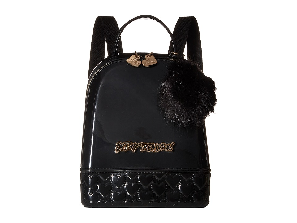 Betsey Johnson - Don't Be Jelly Mini Backpack (Black) Backpack Bags