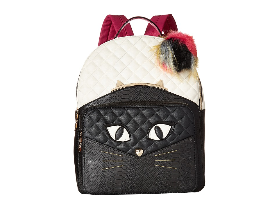 Betsey Johnson - Cat's Meow Backpack (Bone/Black) Backpack Bags