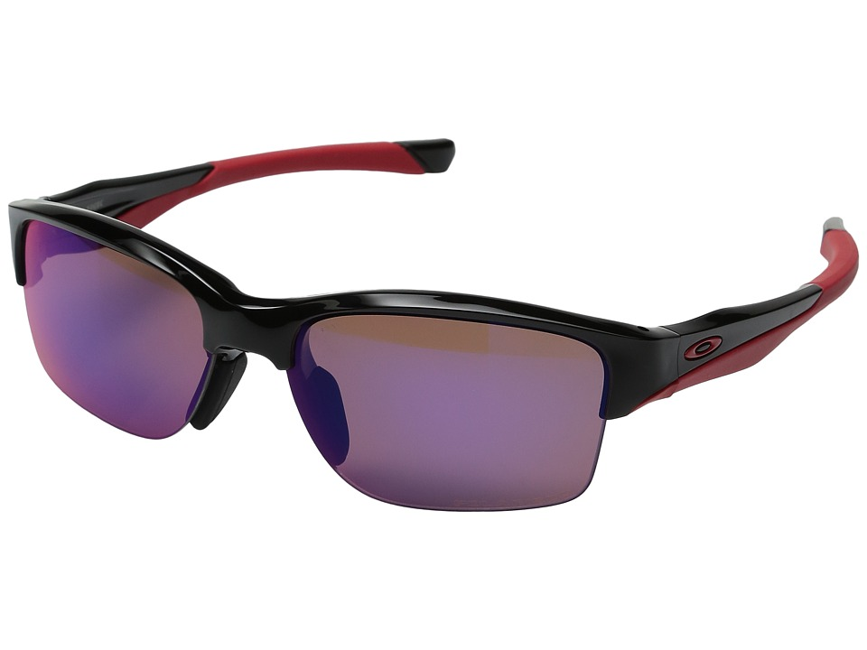 Oakley - Halflink (Polished Black w/ Red Iridium Polarized) Sport Sunglasses