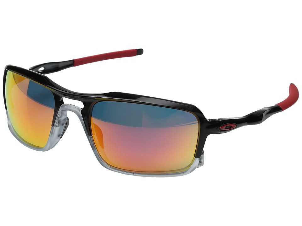 Oakley - Triggerman (Black Ink w/ Ruby Iridium) Sport Sunglasses