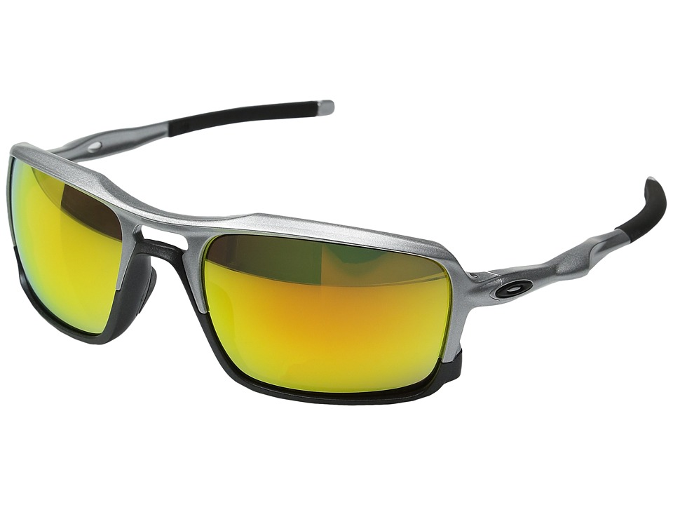 Oakley - Triggerman (Silver w/ Fire Iridium) Sport Sunglasses