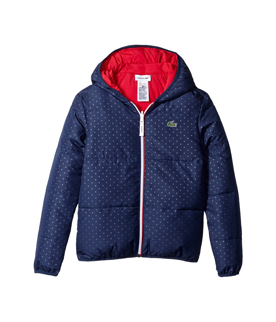 Lacoste Kids - Reversible Jacket (Little Kids/Big Kids) (Deauville Dark/Tokyo Red) Girl's Clothing