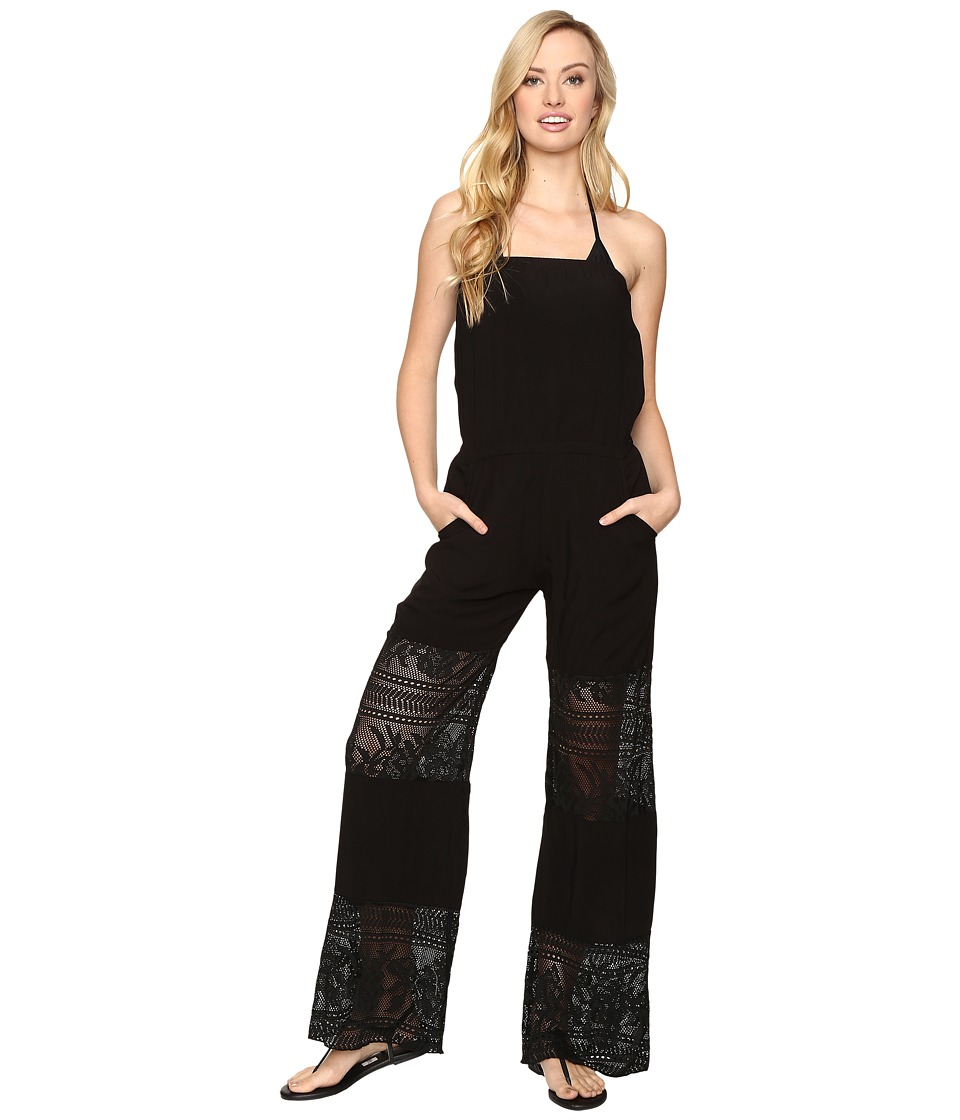 BECCA by Rebecca Virtue - Prairie Rose Jumpsuit Cover-Up (Black) Women's Swimsuits One Piece