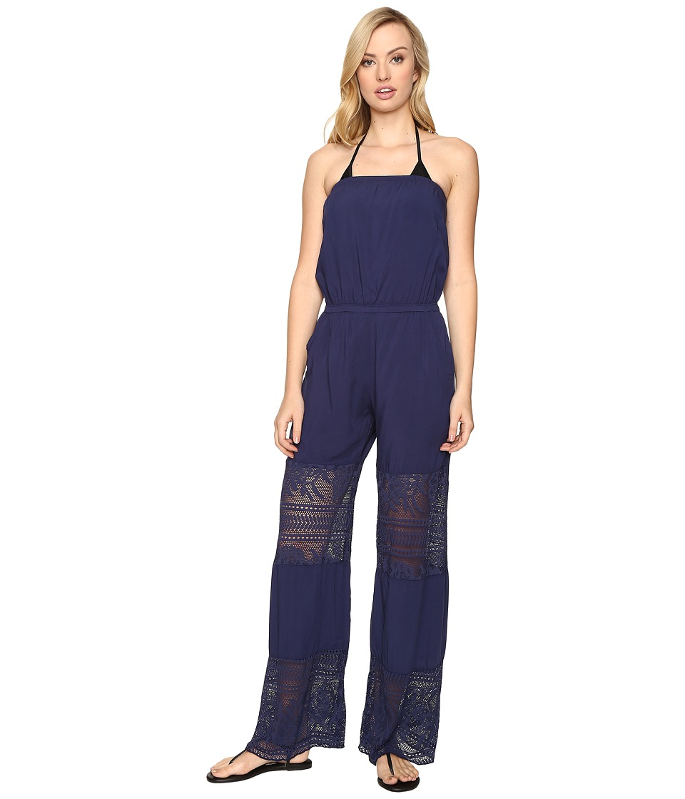 BECCA by Rebecca Virtue - Prairie Rose Jumpsuit Cover-Up (Dark Denim) Women's Swimsuits One Piece