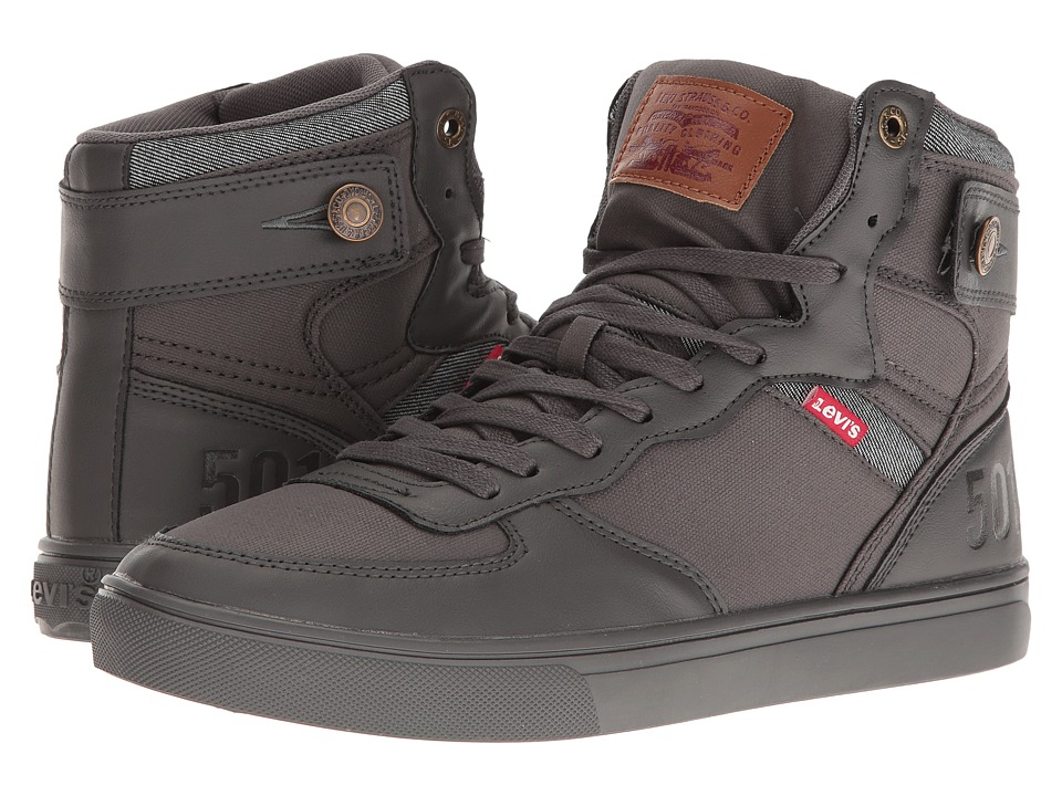 Levi's(r) Shoes - Jeffery Hi 501 Mono (Charcoal Mono) Men's Shoes