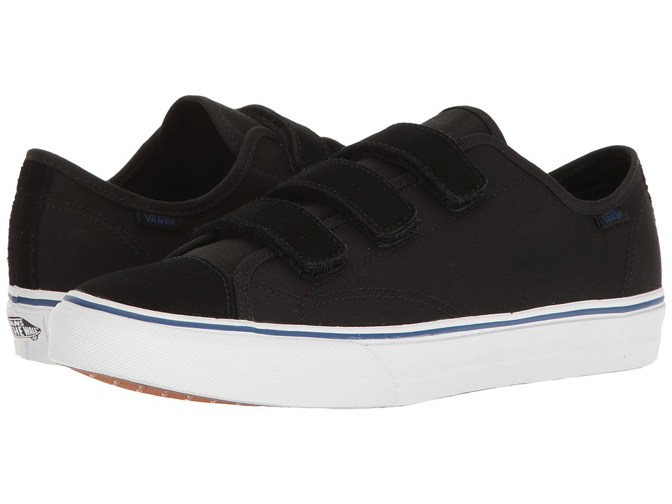 Vans - Style 23 V ((Suede/Canvas) Black) Skate Shoes