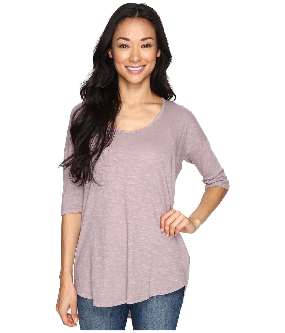 Allen Allen - Slub Elbow Sleeve Tee (Earth) Women's T Shirt