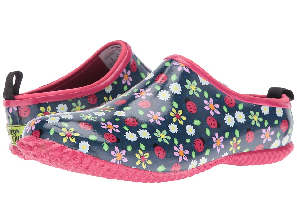 Western Chief - Garden Floral Clog (Navy) Women's Shoes