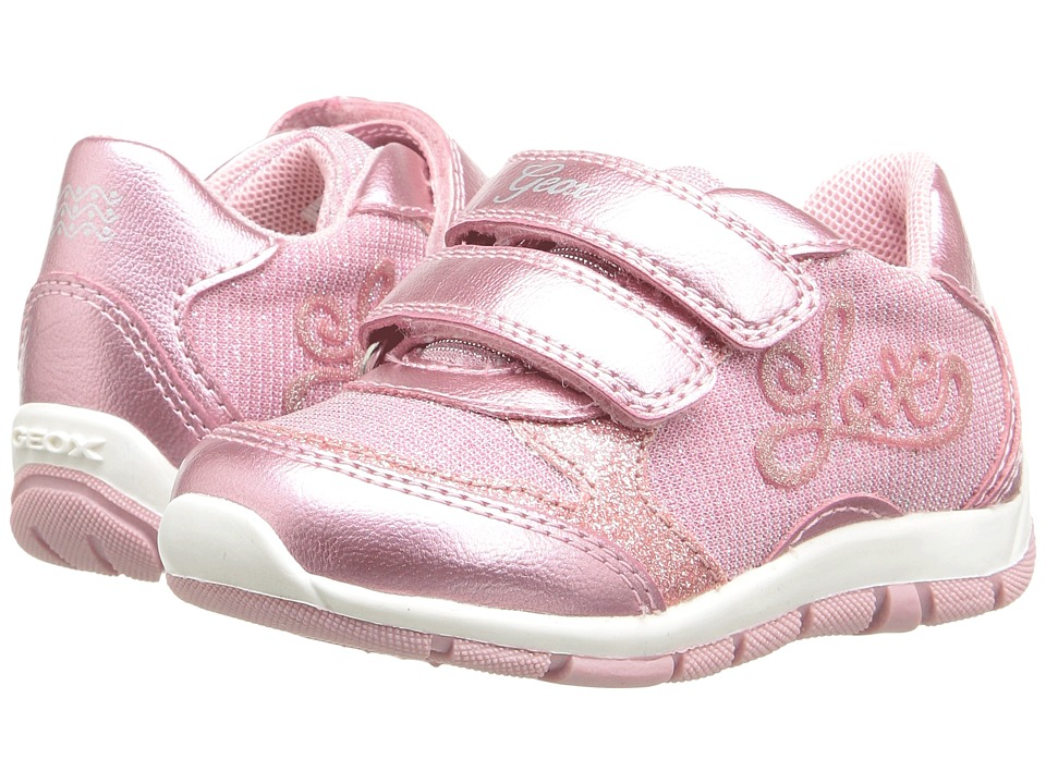 Geox Kids - Jr Shaax Girl 15 (Toddler) (Pink) Girl's Shoes