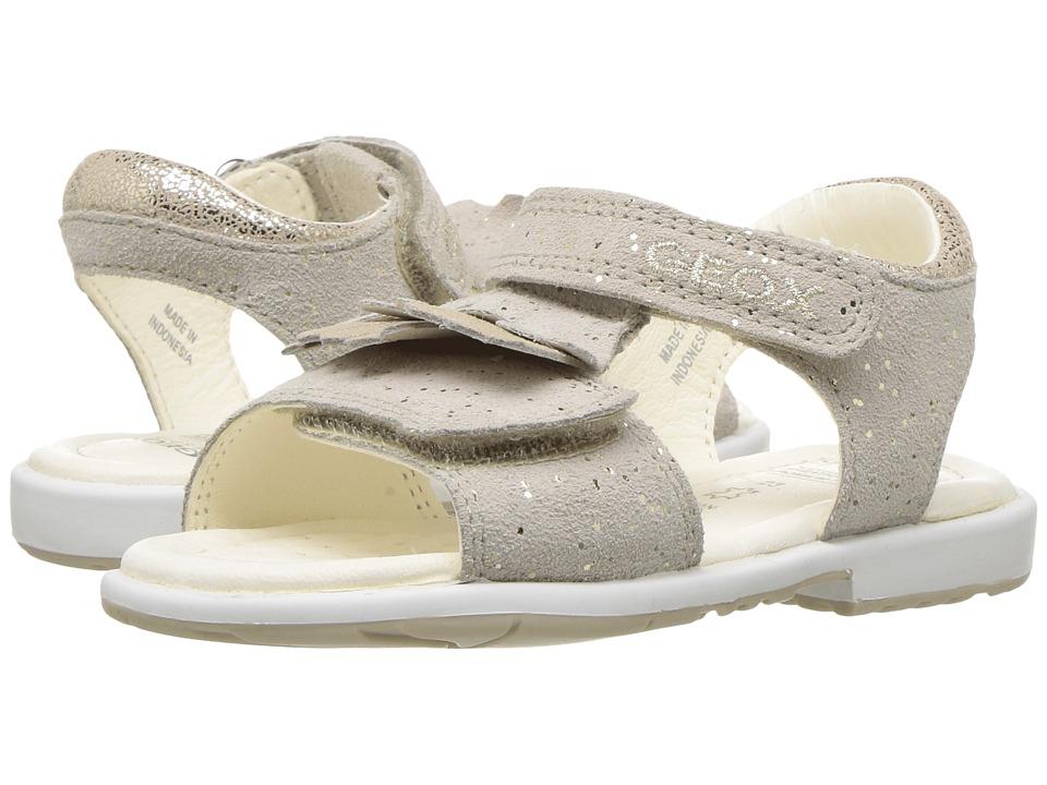 Geox Kids - Jr Verred Girl 13 (Toddler) (Beige/Gold) Girl's Shoes