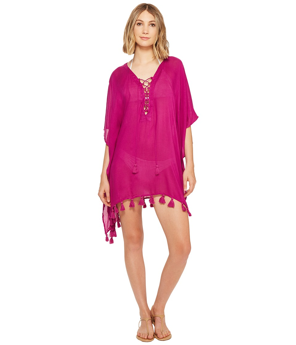 BECCA by Rebecca Virtue - Wanderer Poncho Cover-Up (Mulberry) Women's Swimwear