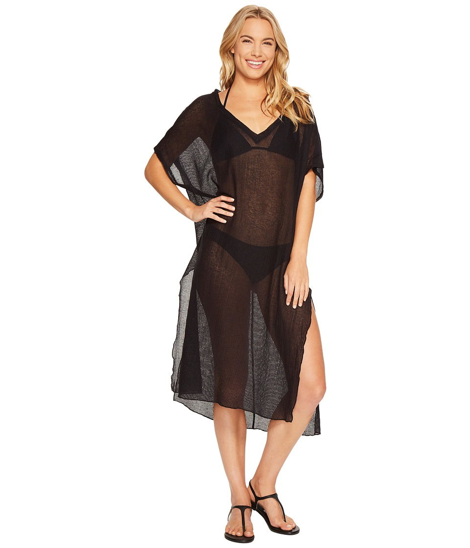 BECCA by Rebecca Virtue - By The Sea Tunic Cover-Up (Black) Women's Swimwear