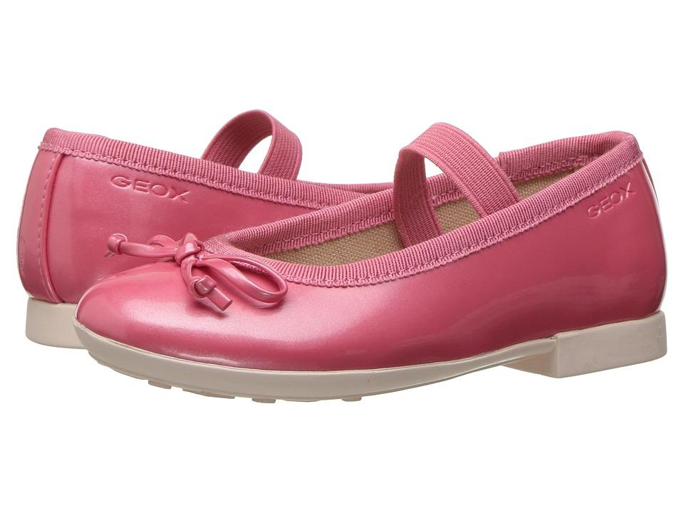 Geox Kids - Jr Plie Girl 39 (Toddler/Little Kid) (Light Coral) Girl's Shoes