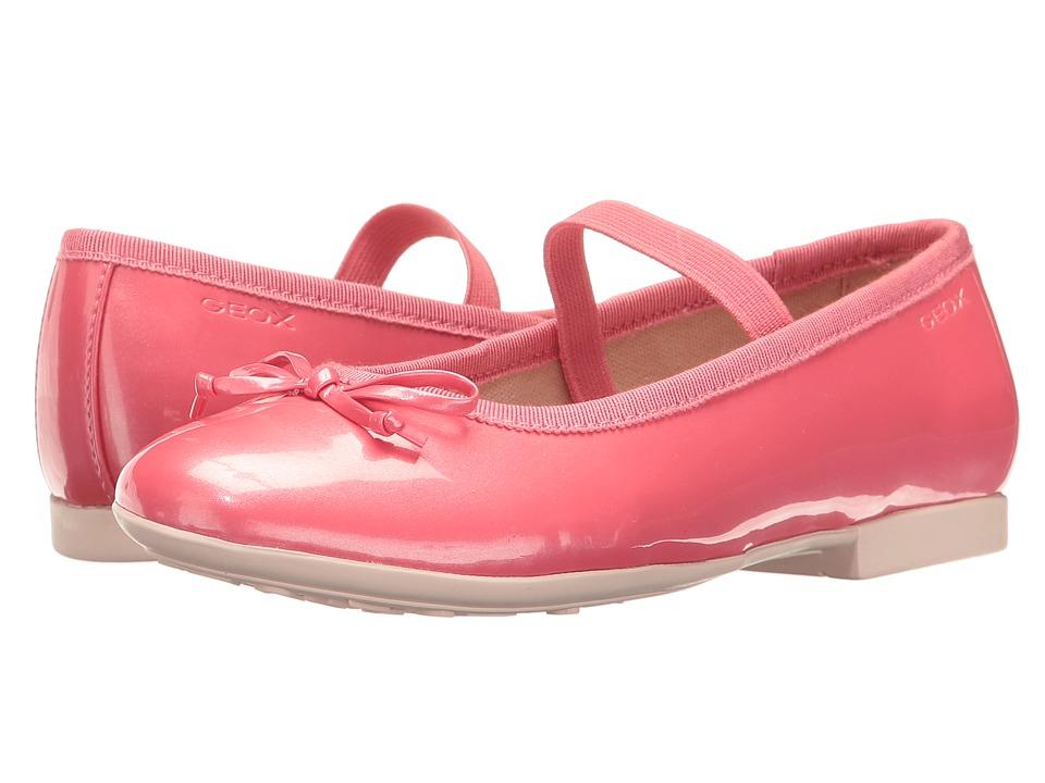 Geox Kids - Jr Plie Girl 39 (Little Kid/Big Kid) (Light Coral) Girl's Shoes