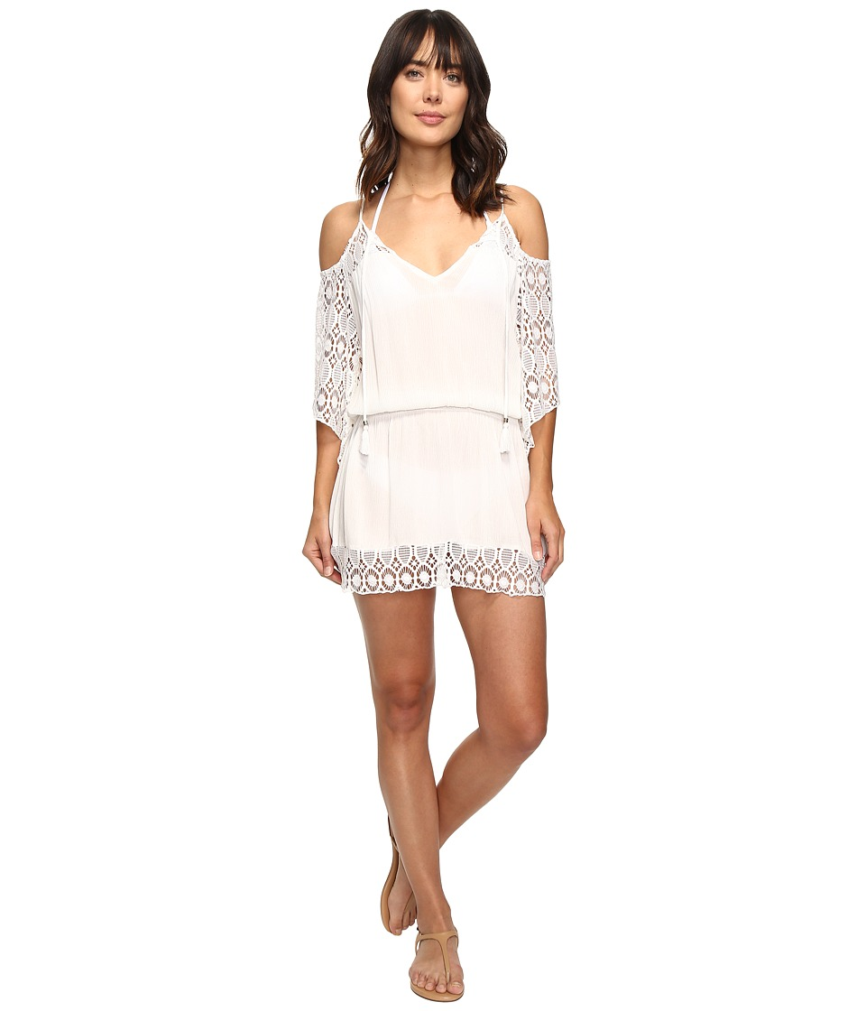 BECCA by Rebecca Virtue - Poetic Cold Shoulder Dress Cover-Up (White) Women's Swimwear
