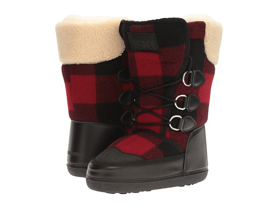 DSQUARED2 - Snow Boot (Nero/Rosso) Women's Boots