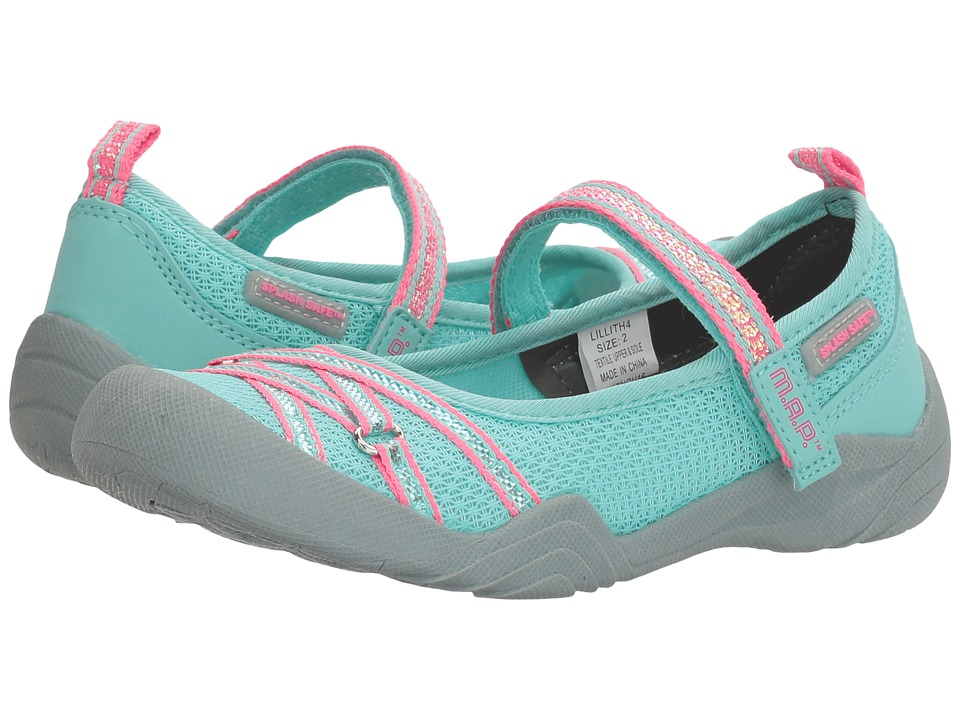 M.A.P. - Lillith 4 (Little Kid/Big Kid) (Mint/Pink) Girl's Shoes