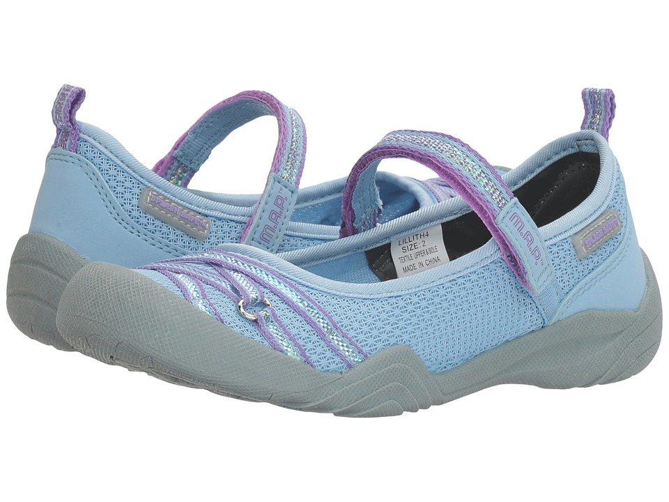 M.A.P. - Lillith 4 (Little Kid/Big Kid) (Periwinkle/Purple) Girl's Shoes