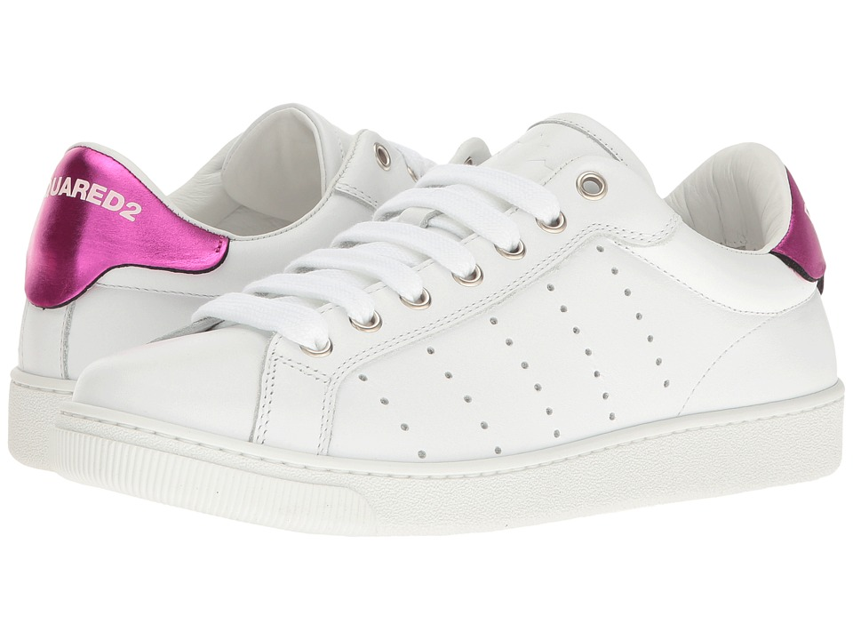 DSQUARED2 - White Sneaker (White/Fuchsia) Women's Shoes