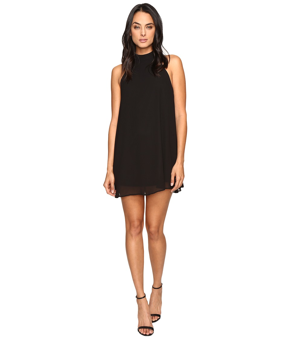 Show Me Your Mumu - V-Right Back Mini Dress (Black Chiffon) Women's Dress