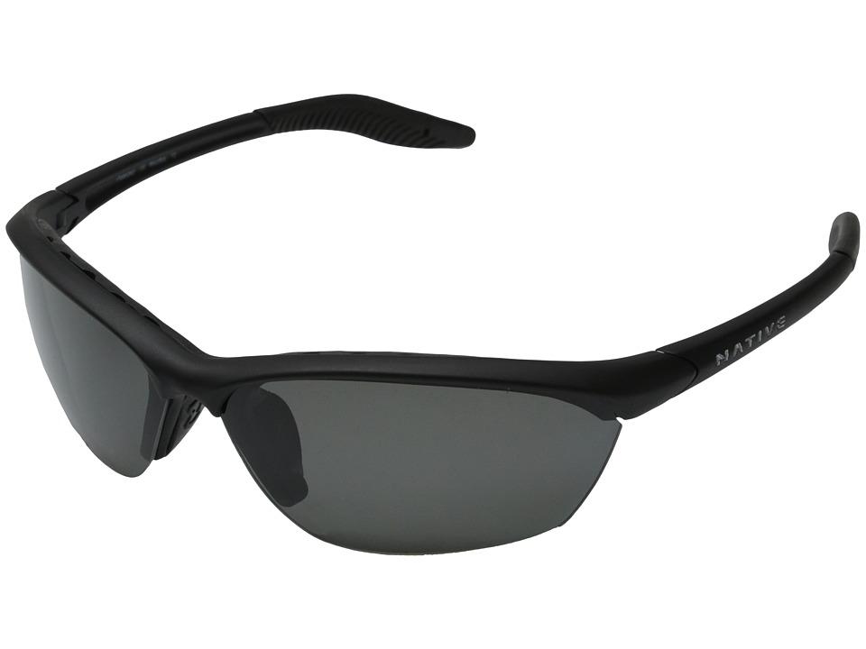 Native Eyewear - Hardtop (Asphalt/Gray Lens) Sport Sunglasses