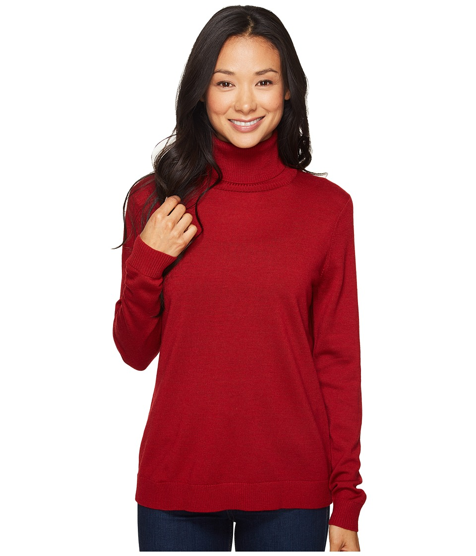 Pendleton - Petite Timeless Turtleneck (Red Rock Heather) Women's Long Sleeve Pullover