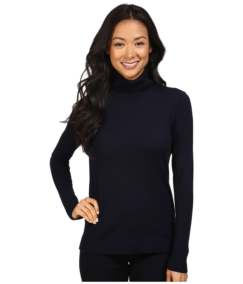 Pendleton - Petite Timeless Turtleneck (Midnight Navy) Women's Long Sleeve Pullover