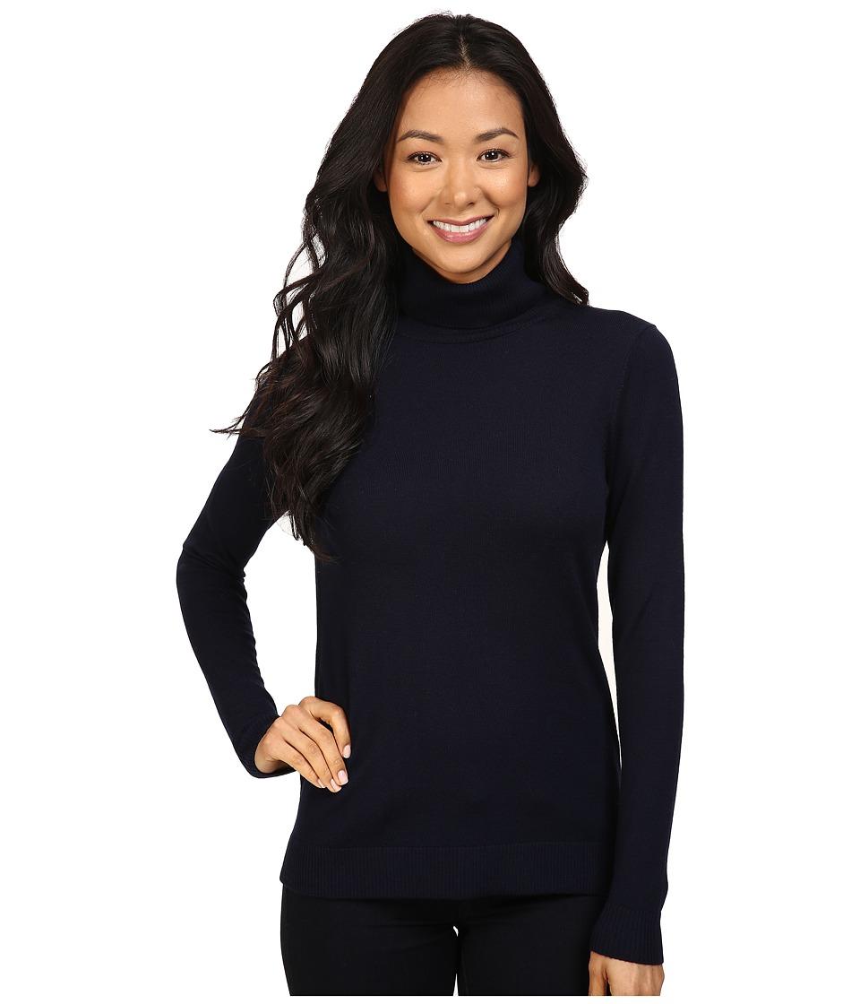 Pendleton - Petite Timeless Turtleneck (Midnight Navy) Women's Long Sleeve Pullover