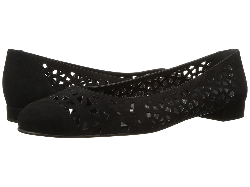 Stuart Weitzman - Cutdown (Black Suede) Women's Shoes