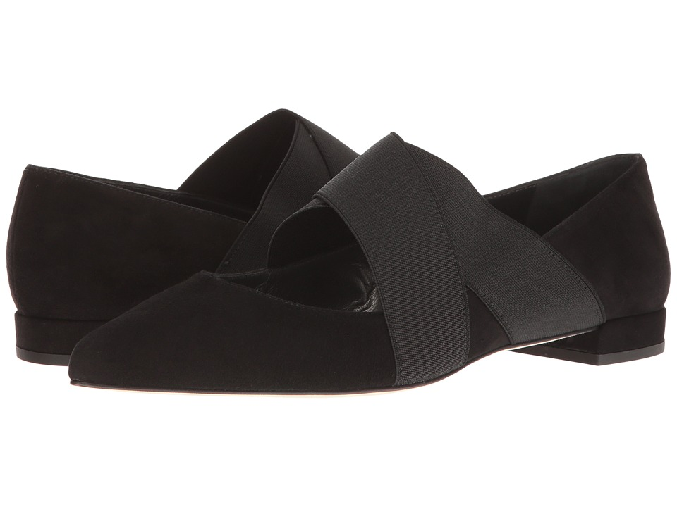 Stuart Weitzman - Elastex (Black Suede) Women's Shoes