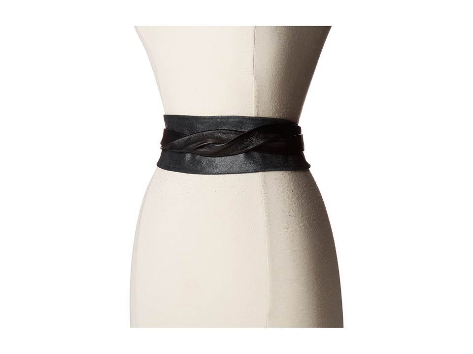 ADA Collection - Obi Classic Wrap (Black Suede) Women's Belts