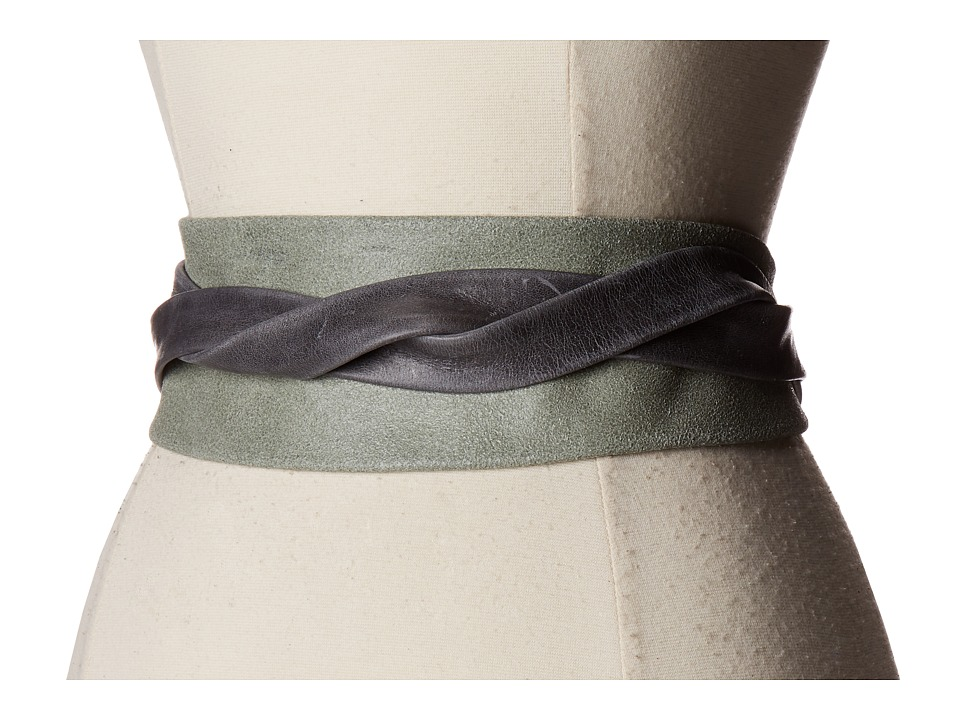 ADA Collection - Obi Classic Wrap (Grey Suede) Women's Belts
