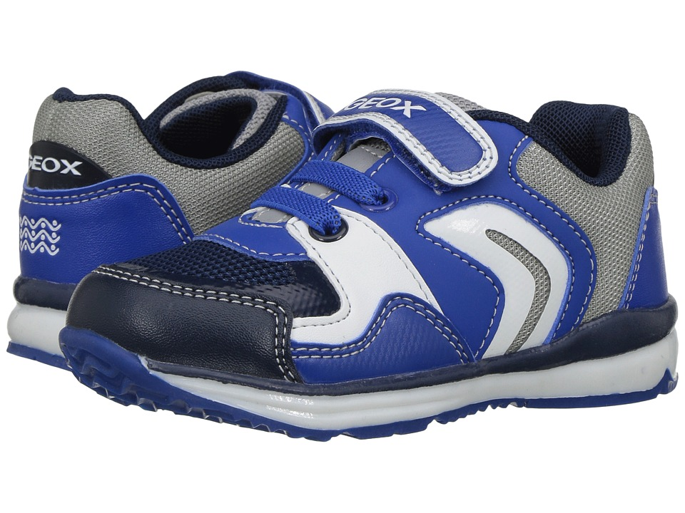 Geox Kids - Baby Todo Boy 6 (Toddler) (Royal/Grey) Boy's Shoes