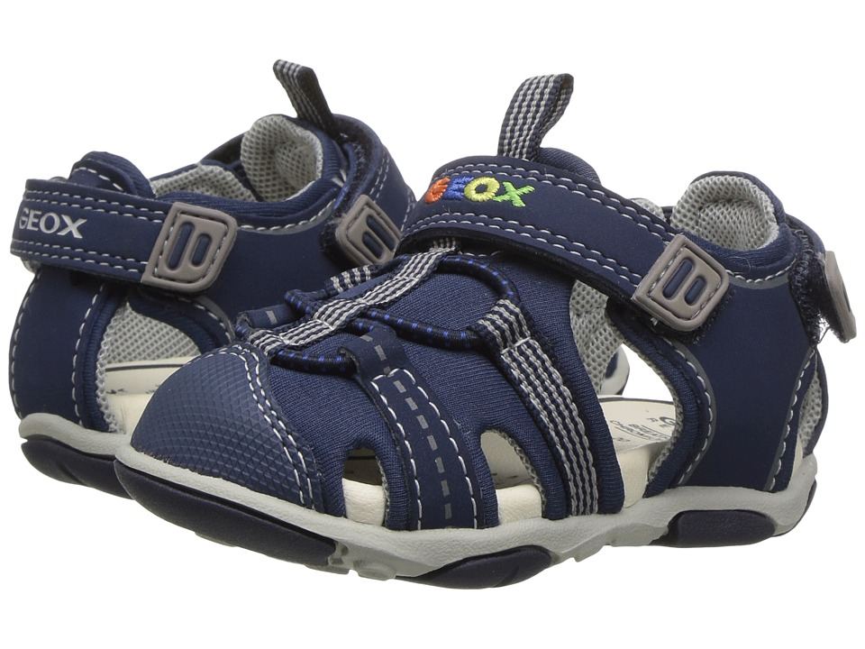 Geox Kids - Baby Sandal Agasim Boy 1 (Toddler) (Navy/Grey) Boy's Shoes