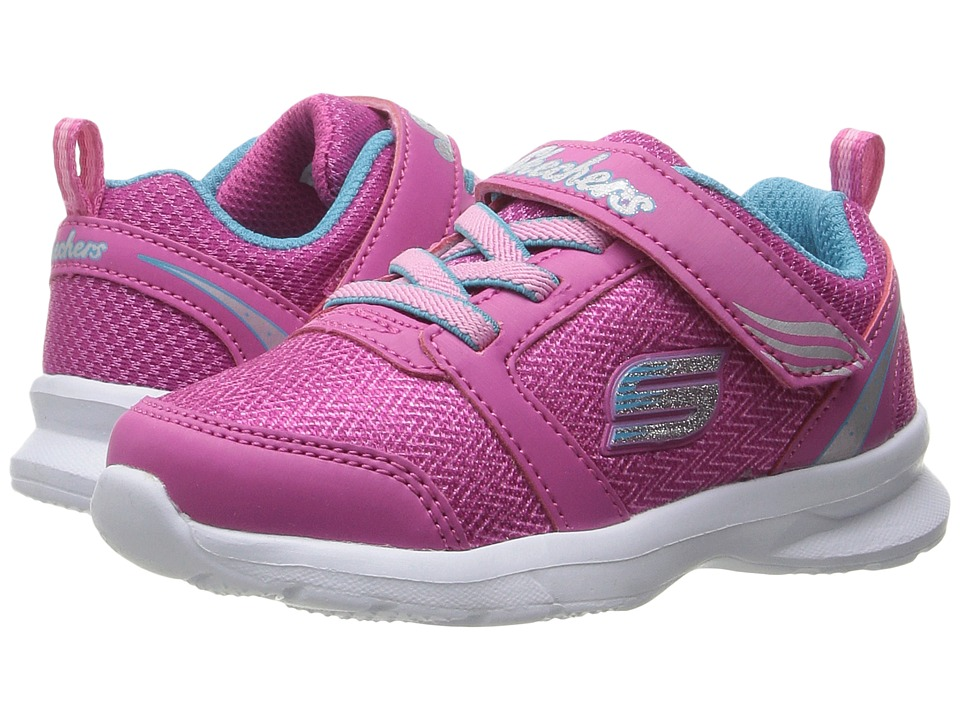 SKECHERS KIDS - Skech-Stepz (Toddler/Little Kid) (Neon Pink/Turquoise) Girl's Shoes