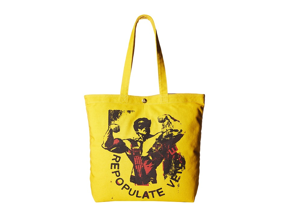 Vivienne Westwood - Africa Repopulate Venice Politics Shopper (Yellow) Tote Handbags