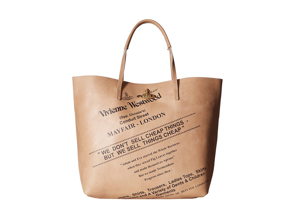Vivienne Westwood - Africa Sell Cheap Leather Shopper (Natural) Tote Handbags