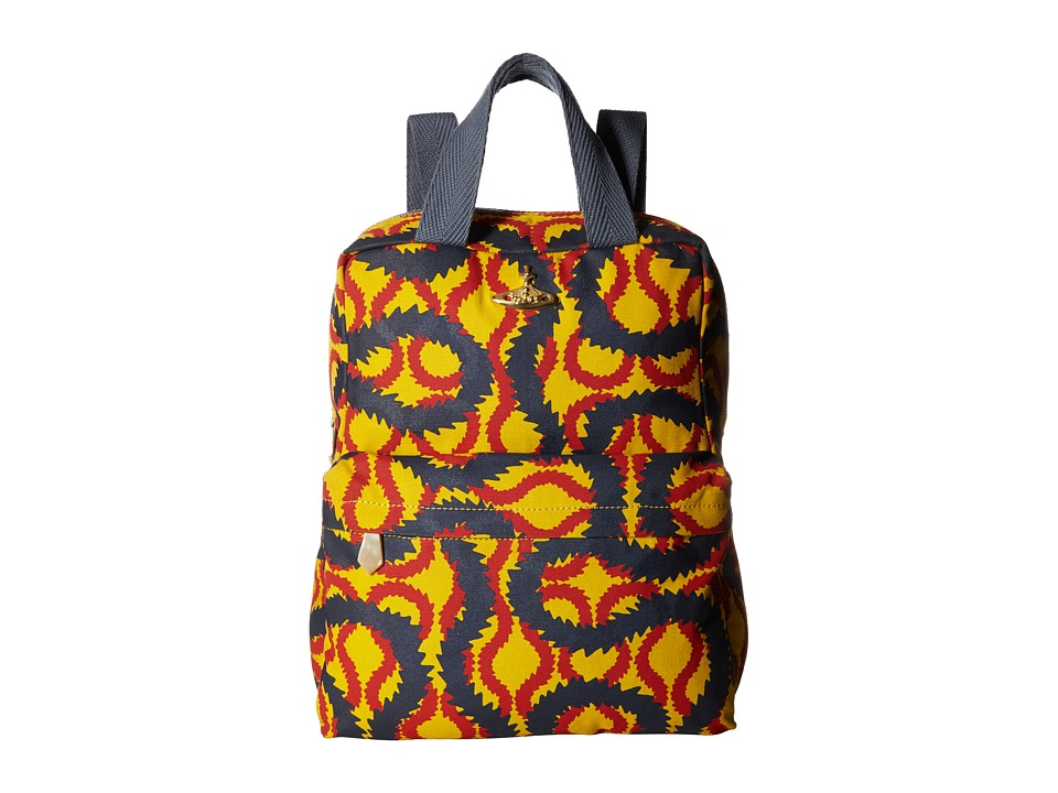 Vivienne Westwood - Africa Squiggle Backpack/Shopper (Yellow/Red/Blue) Tote Handbags