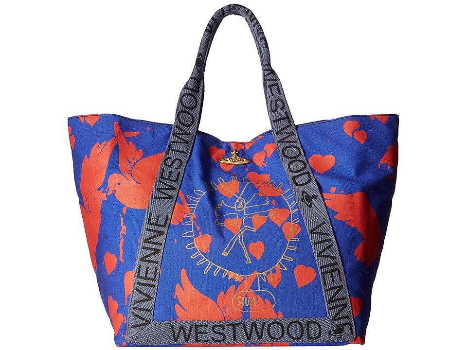 Vivienne Westwood - Africa Siva Yoga Shopper (Blue/Red) Tote Handbags