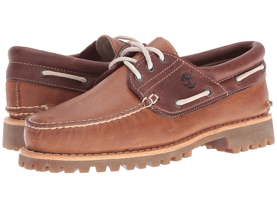 Timberland - Authentic 3 Eye Boat (Brown) Men's Shoes