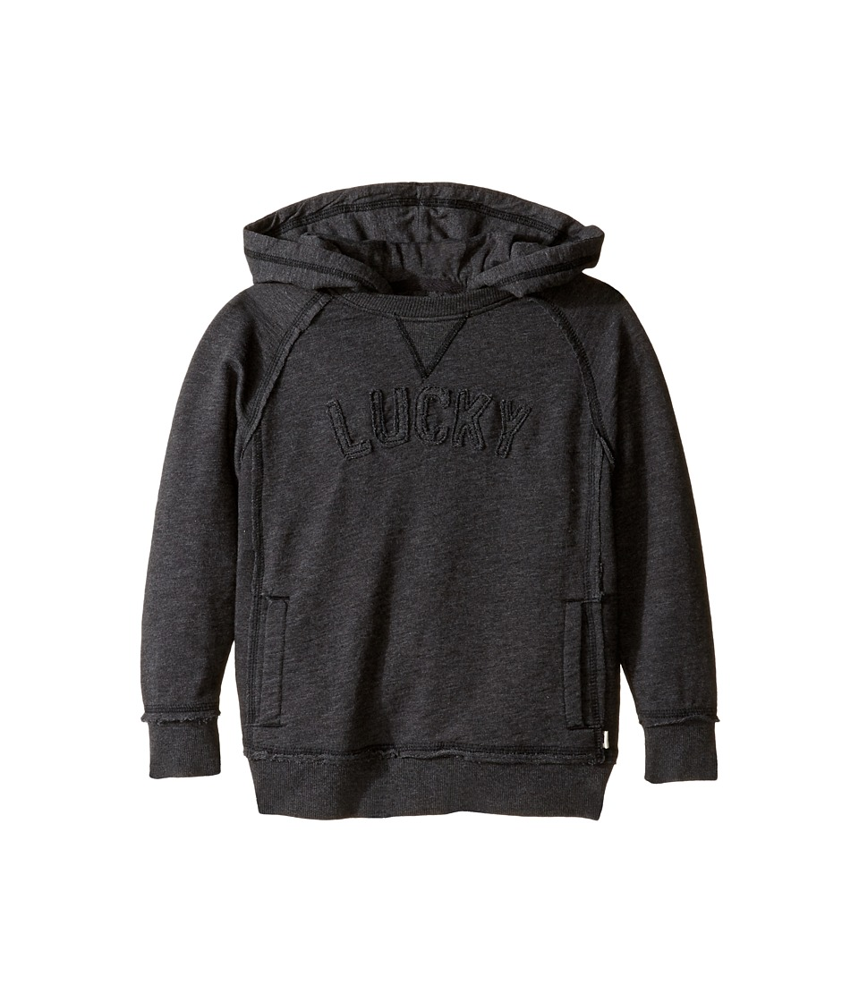 Lucky Brand Kids - Pullover Hoodie with Lucky Chest Logo (Toddler) (Dark Charcoal) Boy's Sweatshirt
