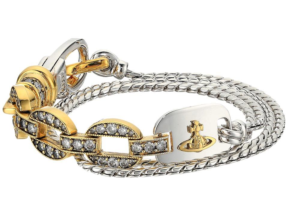 Vivienne Westwood - Orestes Wrap Bracelet (White Cubic Zirconia) Bracelet