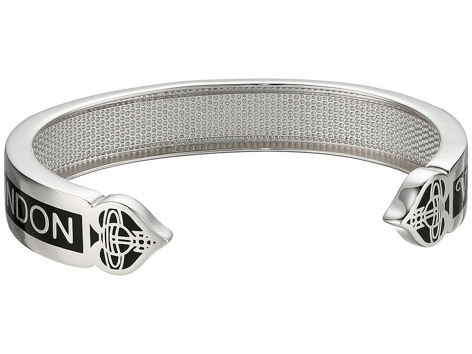 Vivienne Westwood - Vegas Open Bangle (Black) Bracelet