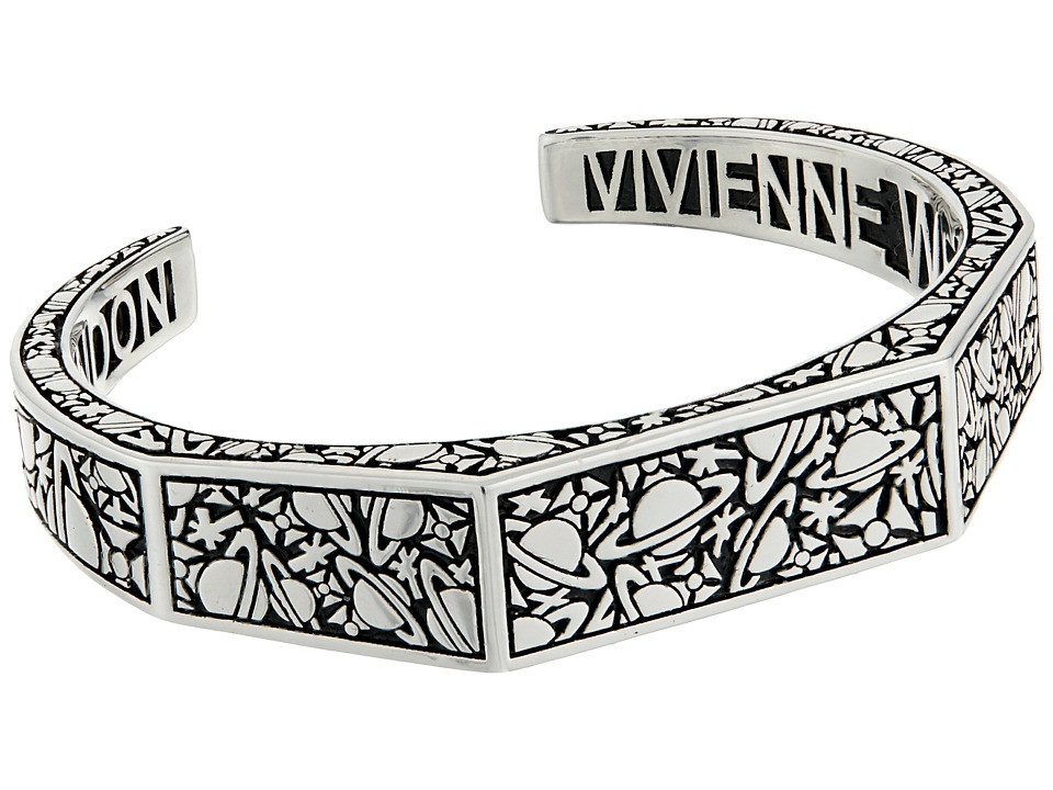 Vivienne Westwood - Angelo Open Bangle (Oxidized Silver) Bracelet