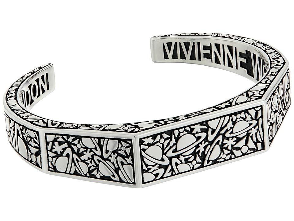 Vivienne Westwood - Angelo Open Bangle (Oxidized Silver) Bracelet