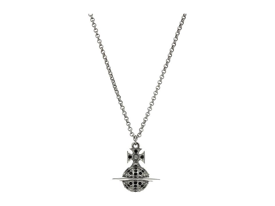 Vivienne Westwood - Man Jack Orb Pendant Necklace (Black Diamond) Necklace