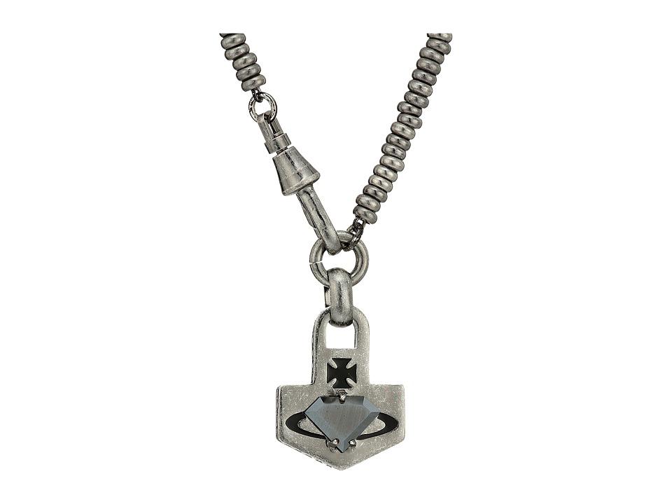 Vivienne Westwood - Kian Arrow Pendant Necklace (Hematite Cubic Zirconia) Necklace