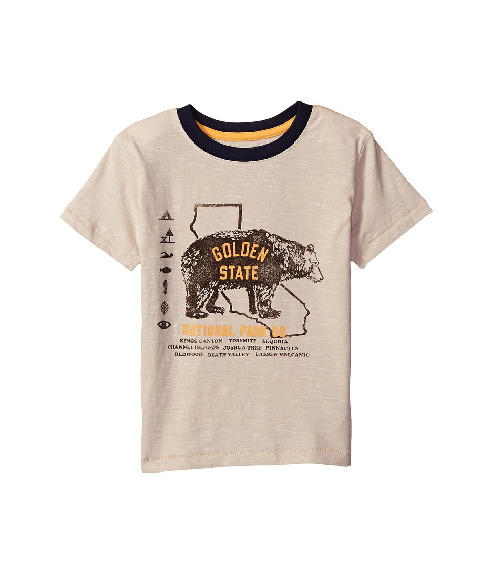 Lucky Brand Kids Short Sleeve Tee with Bear Print (Little Kids/Big Kids) (Pelican) Boy